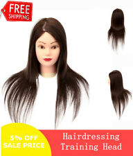 23'' Salon Human Practice Hair Hairdressing Training Head Mannequin With Clamp