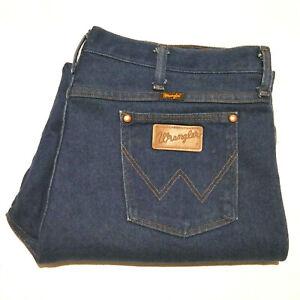 Wrangler 938NAV Mens Faded Denim Jeans Blue Size 40x30