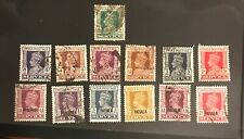 India  postage stamps lot of 13 different King George SERVICE