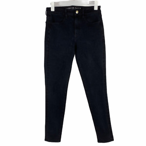 AE American Eagle Hi-Rise Black Jegging Skinny Jeans High Waist Stretch 6 Short