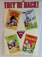 Vintage COMMERCIAL COMICS POSTER 1986 17x11 DONALD DUCK MICKEY UNCLE SCROOGE