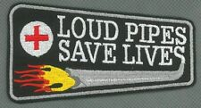 Loud Pipes Save Lives toppa ricamata termoadesivo iron-on patch Aufnäher