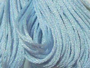 DMC Light Effects Embroidery Floss Color E3747 Sky Blue Pearlescent Effects Art