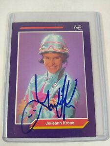 Juliann Julie Krone Jockey Star Cards Autographed Trading Card 1992