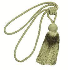 2x PERSE MOUTARD jaune à glands Corde rideaux drapé tieback retenues 63.5cm 64cm