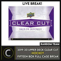 2019-20 UPPER DECK CLEAR CUT HOCKEY 15 BOX FULL CASE BREAK #H893 - RANDOM TEAMS