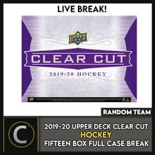 2019-20 UPPER DECK CLEAR CUT HOCKEY 15 BOX FULL CASE BREAK #H893 - RANDOM TEAMS