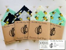 🦊 Natural Reusable Beeswax Food Wrap -Size Large (30x30, 15x15 cm) Set Of 2
