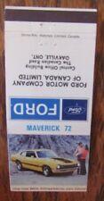 1972 FORD MAVERICK CAR DEALER: OAKVILLE, ONTARIO -JL9