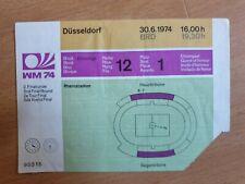 Ticket WM 1974 Deutschland - Schweden 30.6.1974