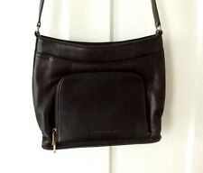 Stone Mountain Palisades Black Leather Handbag/Purse Many Pockets Adjust Strap