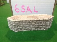 Stone Style Bridge support pier  -OO Scale HO Scale 38mm Tall Rough Stone