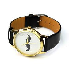 Moda Reloj Cuarzo Bigote Pulsera Cuero PU con Estilo Elegante para Mujer Chica