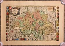 Vintage Engraved Nicolas Sanson Map Of Switzerland 38X27 Laid Paper Nice Repro
