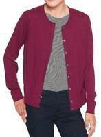 NWT Womens Banana Republic Sweater Cardigan Luxe Crewneck Cashmere Blend *6A