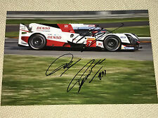 WEC Le Mans 2017 TOYOTA Nr.7 Kobayashi,Davidson,Lopez SIGNED Autograph,Signiert