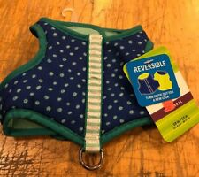 Top Paw Reversible Vest Harness XX SMALL Girth 10-12 in. Blue/Green NEW