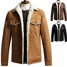 New Fashion Trendy Mens Suede Mustang Jacket Jumper Blazer Coat Outwear Top B069