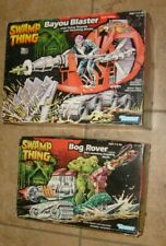 RARE Kenner SWAMP THING BOG ROVER & BAYOU BLASTER NEW FIGURE VEHICLES & BOXES