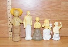 Lot of 5 Vintage Avon Cologne / Perfume Decanters - Groom Girl Boy Fish **READ**