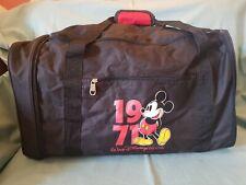 Vintage Rare Walt Disney World Mickey Gym Holdall Foldable Travel Luggage Bag GC