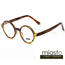 "MIASTO RETRO ROUND ""LENNON/ POTTER"" SMALL READER READING GLASSES +2.50 TORTOISE"