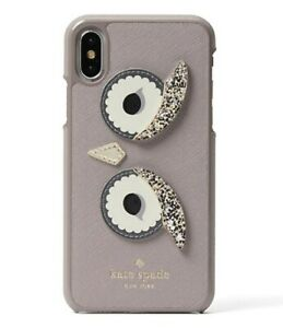 Kate Spade NY 256381 Womens Owl Appliqué Snap iPhone X/XS Case