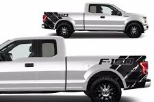 Custom Vinyl Graphics REAR QUARTER Decal Wrap Kit 2015-17 Ford F-150 Truck BLACK