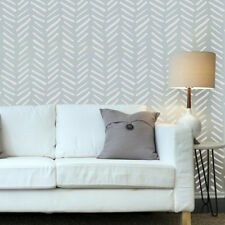 Wall Herringbone Simple Allover Stencil Scandinavian pattern for DIY projects