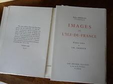 Images ile de france  Numéroté Gravure de Sanson Henriot Heures claires illustré