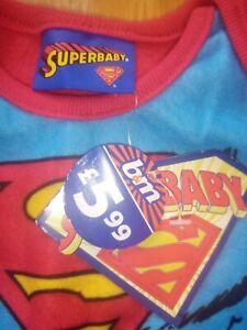 Baby Boy 0-3 Bundle Batman Superman Pyjamas Outfits