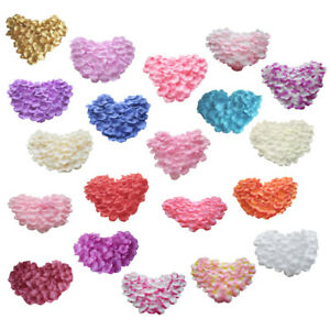 Silk Rose Petals Wedding Scatter Confetti Flower Girl Party Table Decoration Lot