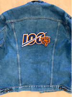 """BEARS 100TH ANNIVERSARY PATCH NFL XL JACKET STYLE 10"""" FOOTBALL FULLY EMBROIDERED"""