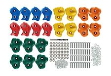 22 Assorted Deluxe Rock Climbing Holds for Kids - Outdoor Climbing Stones Kit.