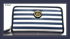 Tommy Hilfiger Women Wallet with Zip Blue and White Stripe