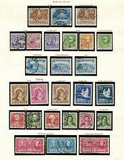 Sweden #316-337 Complete Set 1941-58 Used/MNH(326-8)