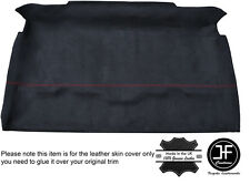 RED STICH ROOF HEADLINING PU SUEDE COVER FITS LAND ROVER DEFENDER 90 TRUCK CAB