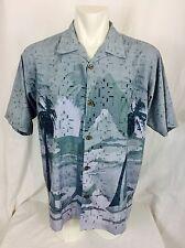 Bill Blass Hawaiin Silky Camp Shirt. Men's. Medium. Perfect.