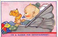 POSTCARD  CHILDREN   TEDDY  BEAR  Baby  Entertainment           B  Mallet