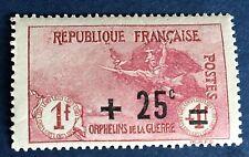 France N° 168 25/1/1 F Rose Neuf ** TB Qualité Bon Centrage.  Côté 70€