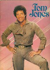 Tom Jones tour book concert souvenir program 1984 with ticket stubs