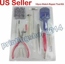 New 16pcs Watch Repair Tool Kit Band Pin Strap Link Back Opener Remover