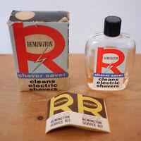 Vintage Mid Century Remington Shaver Saver Cleaning Fluid Original Box Manual