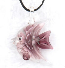 fashion 1pc lovely fish Lampwork Glass bead pendant Necklace p864_4