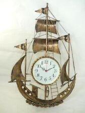Wall clock wrought iron Veliero Ship Boat 80 cm height