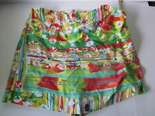 Jams World Women Small S Skort Skirt Melange Wrap Floral Stripe Pink Green Blue