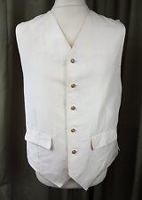 "Gary Anderson of Savile Row Crushed Silk Ivory Bespoke Tailored Waistcoat 44"""