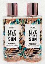2 Victoria's Secret Pink LIVE BY THE SUN Coconut Sea Mango Mist Body Spray