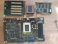 Pentium Pro Socket 8 Motherboard DELL + VIDEO CARD  TESTED + CPU Heatsink Cooler
