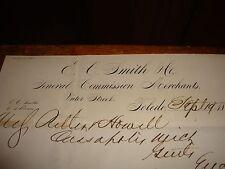 Letterhead 1871 E C Smith General Commission Merchants